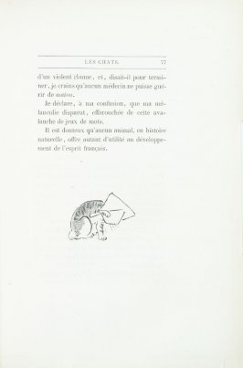 """Croquis de chat de Hok'sai"", end device pg. 77, in the book Les Chats (Cats) by Champfleury (Paris: J. Rothschild, 1870)."
