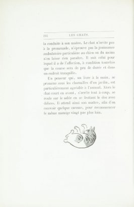 """Chat japonais, d'après Hok' Sai,"" end device pg. 244, in the book Les Chats (Cats) by Champfleury (Paris: J. Rothschild, 1870)."