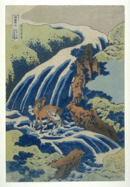 Yoshitsune - Horse Washing in Fall - From Waterfall Series