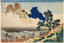 Minobu River and the Back of Mount Fuji, from the series Thirty-Six Views of Mount Fuji