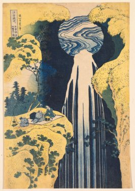 The Amida Waterfall in the Depths of the Kiso Mountains, from the series A Tour of Waterfalls in the Provinces