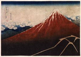 Storm below the Mountain (Fuji above the Lightning), from the series Thirty-Six Views of Mount Fuji