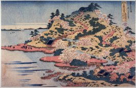 Mt. Tempo at the Mouth of the Aji River in Settsu P{rovince (Sesshu aji kawaguchi tempozan), from the series Unusual Views of Famous Bridges in the Province (Shokoku meikyo kiran)