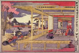 Act 4 (Yondamme), from the series New Perspective Pictures of the Chushingura (Shimpan ukie chushingura)