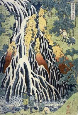 Kirifuri Waterfall at Mount Kurokami in Shimotsuke Province, from the series A Tour of Waterfalls in the Provinces