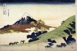 Fuji from Inume Pass in Kai Province, from the series Thirty-Six Views of Mount Fuji