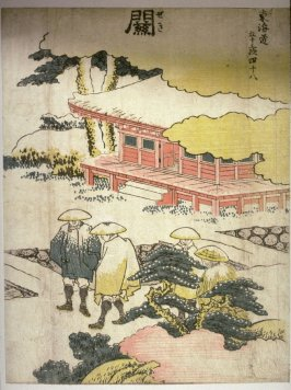 Seki, no. 48 from a series, Fifty-three Stations of the Tokaido (Tokaido gojusantsugi)