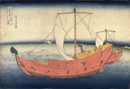 Sea Route off the Shore of Kazusa Province, from the series Thirty-Six Views of Mount Fuji