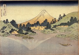 Surface of Lake Misaka in Kai Province (Koshu misaka suimen), from the series Thirty-six Views of Mt. Fuji (Fugaku sanjurokkei)