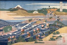 Fuji from Kanaya on the Tōkaidō, from the series Thirty-Six Views of Mount Fuji