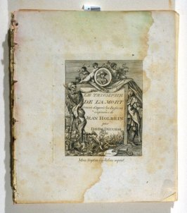 Title page from the disbound book The Dances of Death … (London: John Scott, 1803)