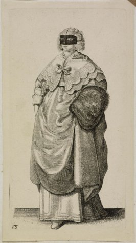 Lady with Mask and Muff, from Ornatus Muliebris Anglicanus (The Severall Habits of English Women)