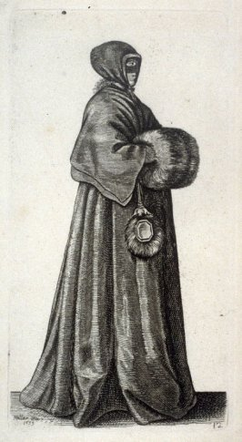 Lady with Hood, Mask and Muff