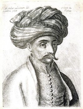 Head and Shoulders of a Turk, with a moustache and a large turban