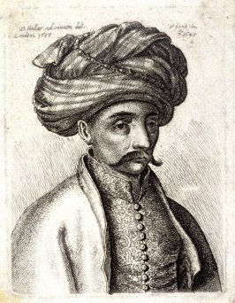 Head and shoulders of a Turk, with a moustache and large turban