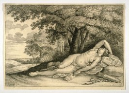 Diana the Huntress, Lying Under a Tree