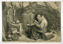 St. Francis [in a Cave, Reading]
