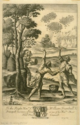 Illustration to Virgil's Georgics: The swarming of the bees