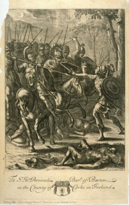 Illustration to Virgil's Anead: Nisus slaying Volscens