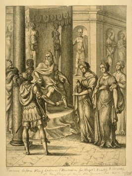Illustration to Virgil's Anead: Turnus before Latinus