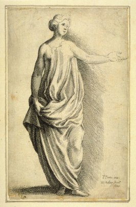 Standing Female Figure with arm outstreched