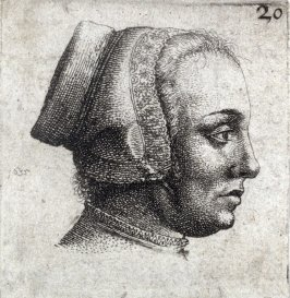 Profile of a Woman's Head to Right