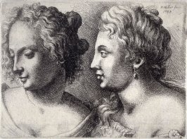 Two young female heads