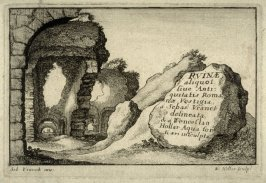 Title page to a series of 12 etchings of Roman Ruins