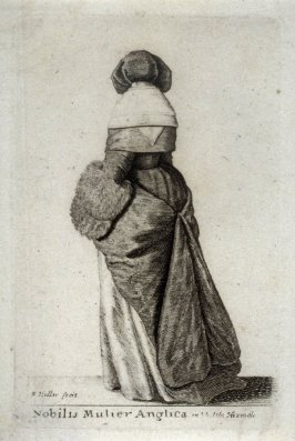 A English Noblewoman in Winter Clothing