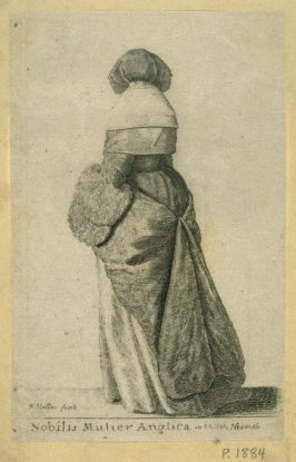 An English Noblewoman in Winter Clothing