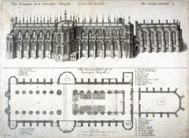 View and Ground Plan of St. George's Chapel, Windsor