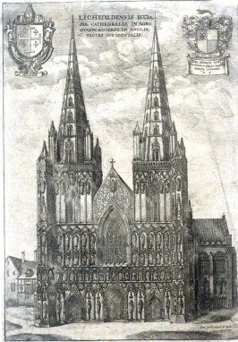 Lichfield Cathedral from the West