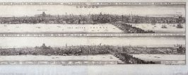 Two views of London, before and after the Fire of 1666