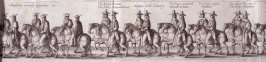 The Coronation Procession of Charles II - Panels 5 and 6 - The Cavalcade of His Majesties Passing Through the City of London Towards His Coronation, Monday April 22, 1661