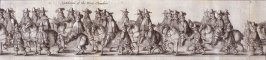 The Coronation Procession of Charles II - Panels 7 to 9 - The Cavalcade of His Majesties Passing Through the City of London Towards His Coronation, Monday April 22, 1661