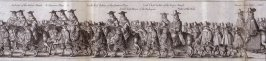 The Coronation Procession of Charles II - Panels 10 and 11 - The Cavalcade of His Majesties Passing Through the City of London Towards His Coronation, Monday April 22, 1661