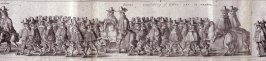 The Coronation Procession of Charles II - Panels 12 and 13 - The Cavalcade of His Majesties Passing Through the City of London Towards His Coronation, Monday April 22, 1661