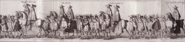 The Coronation Procession of Charles II - Panels 14 to 16 - The Cavalcade of His Majesties Passing Through the City of London Towards His Coronation, Monday April 22, 1661