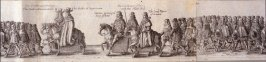 The Coronation Procession of Charles II - Panels 17 to 20 - The Cavalcade of His Majesties Passing Through the City of London Towards His Coronation, Monday April 22, 1661