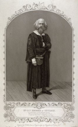Mr. G.V.Brooke as Shylock in The Merchant of Venice