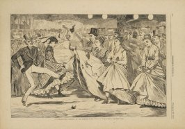 A Parisian Ball - Dancing at the Mabille, Paris from Harper's Weekly, November 23, 1867