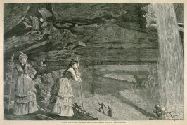 Under the Falls, Catskill Mountains, from Harper's Weekly