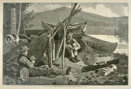 Camping out in the Adirondack Mountains, from Harper's Weekly