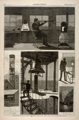 Fire Watch Tower, Corner of Spring and Varick Streets, New York, from Harper's Weekly