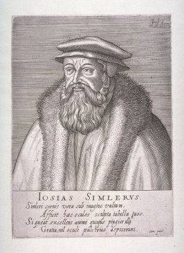 Portrait of Josias Simmler, from set of Celebrated Reformers and Men of the Religion