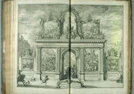 Eerepoort [arch], plate at p. 45 in the book Relation du voyage de sa Majesté britannique en Hollande (The Hague: Arnout Leers, 1692)