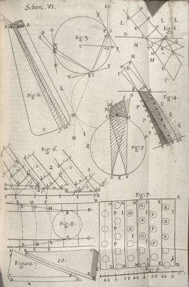 Scheme VI, sixth plate, opposite page 60 in the book, Micrographia: or some physiological Descriptions of minute Bodies made by Magnifying Glasses. With Observations and Inquiries thereupon (London: printed by Jo. Martyn and Ja. Allestry, printers to the
