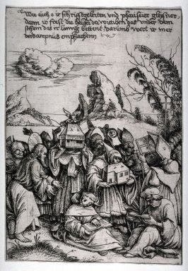 Three Biblical Scenes (three separate etchings)