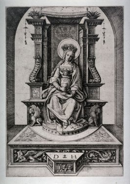 Saint Barbara, Enthroned