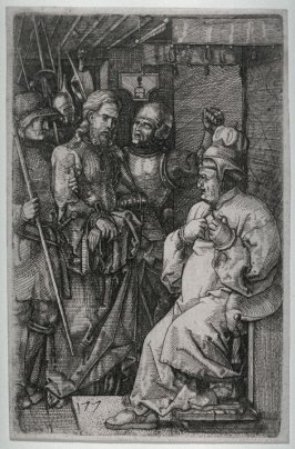 [Christ Before Caiaphas] Two engravings after Dürer... B. 5 Jesus before Caiaphas; B. 13 Descent from the Cross